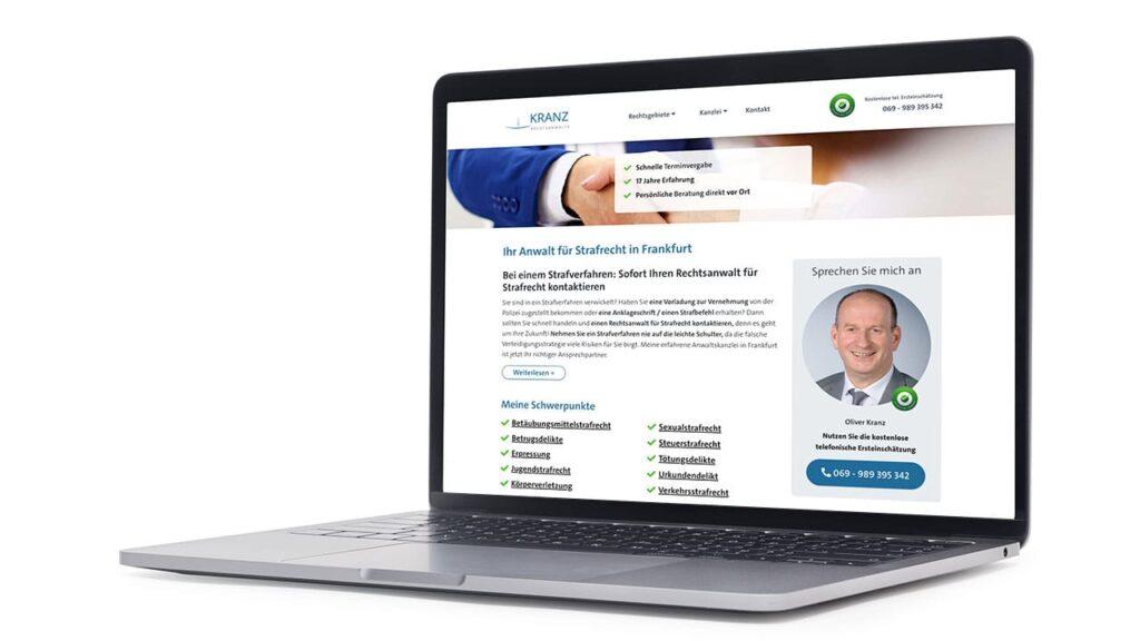 Website für Anwalt